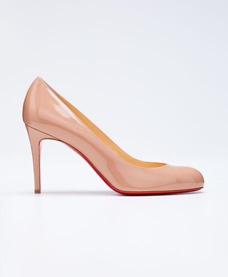 replica shoes for men - Christian Louboutin Iriza Cork Half-d\u0026#39;Orsay Red Sole Pump, Gold