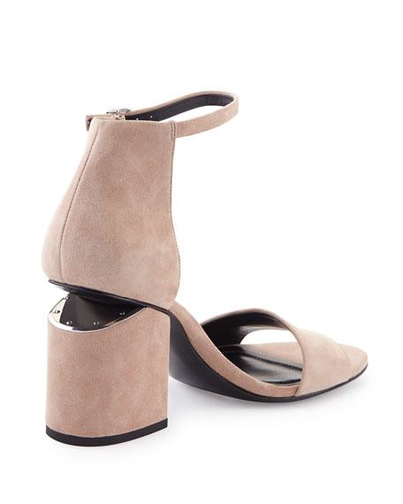 fbc9d3df553f Alexander Wang Abby Suede Tilt-Heel City Sandal