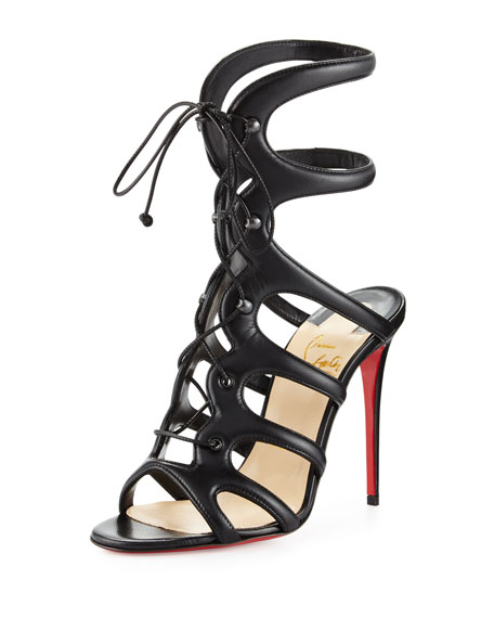 Christian Louboutin Lace-Up Slingback Sandals outlet really x7Bldwljn