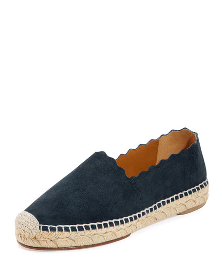 Lauren Flat Scalloped Espadrille, Overseas