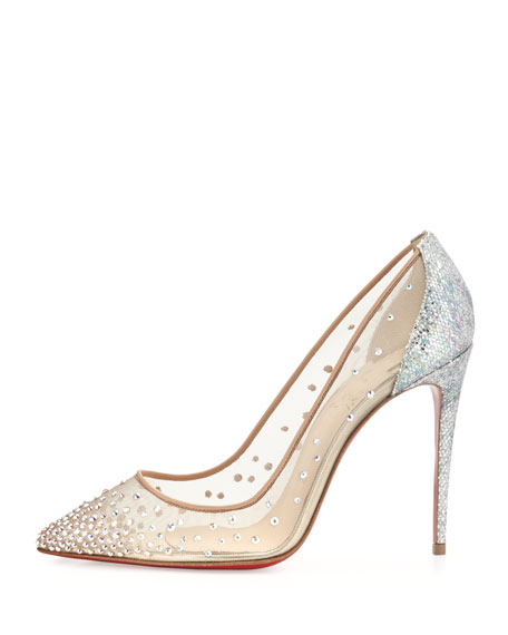 208f4972a23 Christian Louboutin Follies Strass 100mm Red Sole Pump