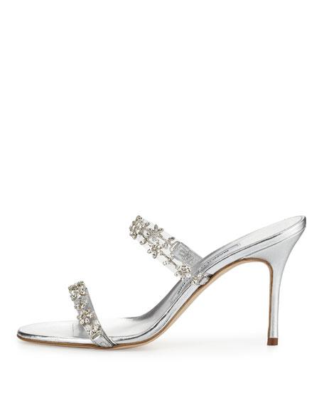 7c4b7d995 Manolo Blahnik Diora Crystal Illusion Slide Sandal