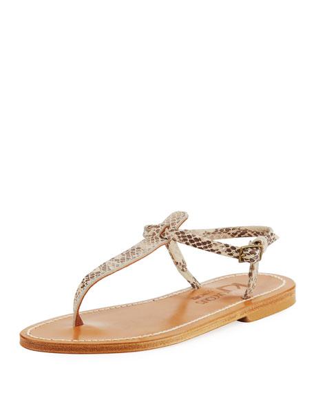 K. Jacques Picon Flat Thong Sandal, Snake