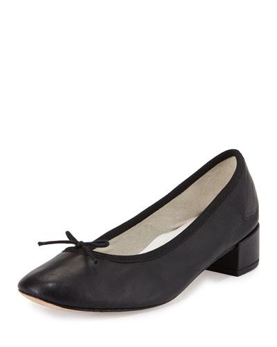 Camille Napa Bow Ballet Pump, Black