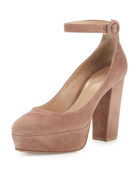 Gianvito Rossi Platform Ankle-Strap Sandals cG66r8qr