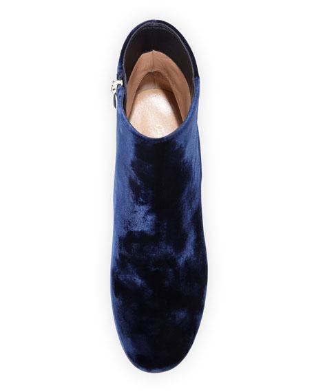 Velvet 60mm Block-Heel Ankle Boot