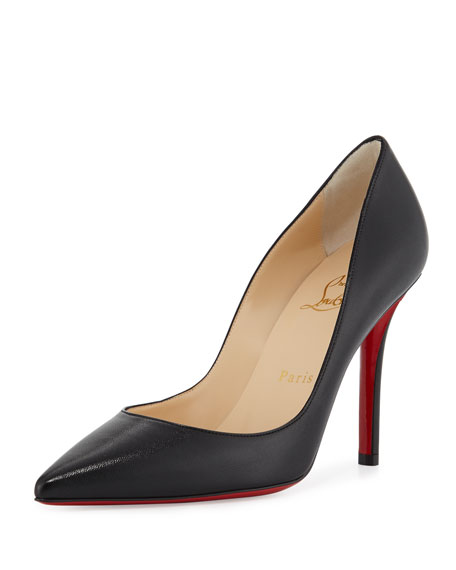 b290f1d7680 Apostrophe Leather 100mm Red Sole Pump Black