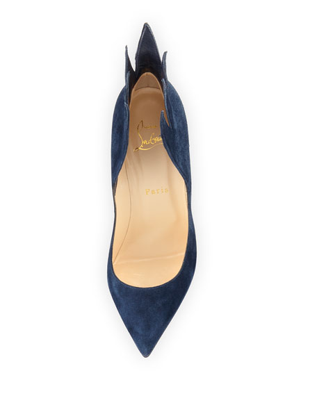 boutin shoes - christian louboutin flame suede point-toe pumps, replica christian ...
