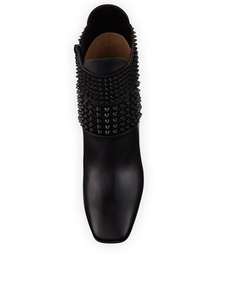 Praguoise Studded Red Sole Ankle Boot, Black
