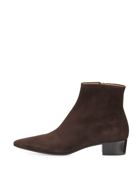 The Row Ambra suede ankle boots 8dMoHEgx