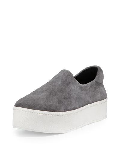 Cici Suede Platform Sneaker, Gray