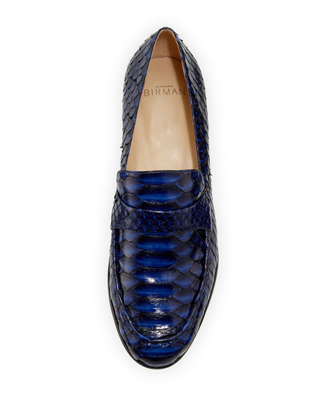 Flat Python Slip-On Loafer