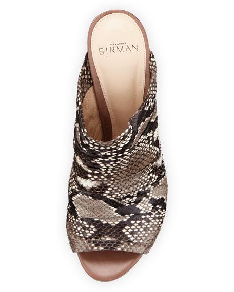 Python 90mm Mule Sandal, Natural/Cameo