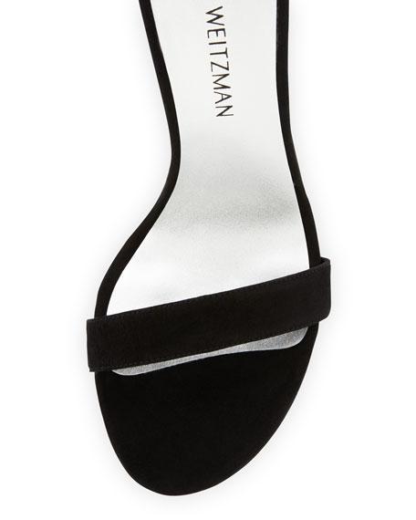 Link Long Chain Evening Sandal, Black