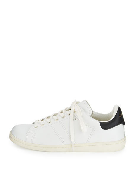 Bart Leather Low-Top Sneaker, White