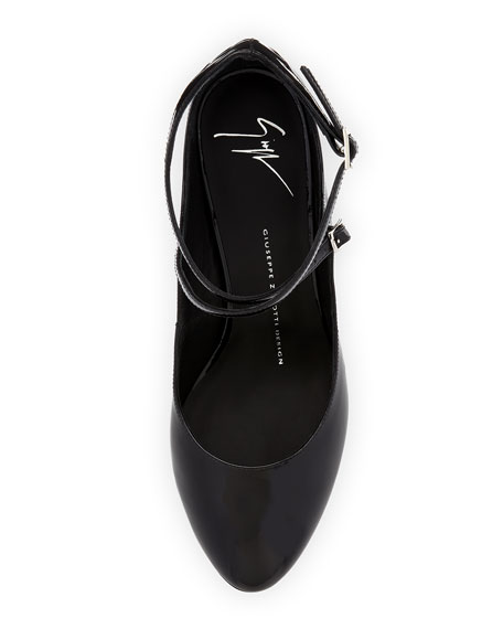 Patent Leather Ankle-Wrap Pump