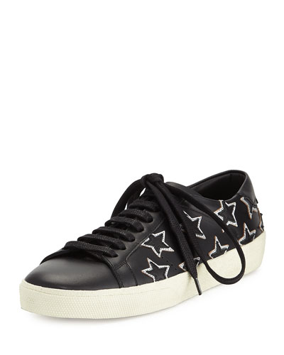Star Court Classic Low-Top Sneaker, Black/Platinum (Noir/Platine)