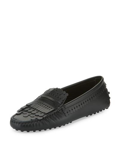 Gommini Heaven Fringe Loafer, Black