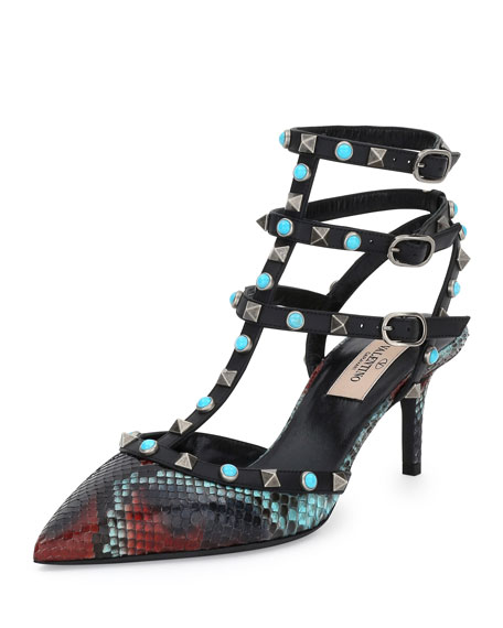 Pictures Cheap Price Free Shipping Hot Sale Valentino Python Sandals Outlet Affordable g1UCEqSw6U