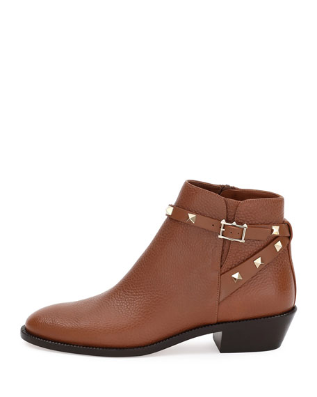 Rockstud Leather 35mm Ankle Bootie