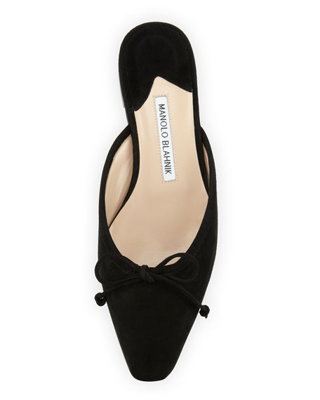 cheap excellent buy cheap fast delivery Manolo Blahnik Ballerimu Suede Mules fast delivery vw691xmU5p