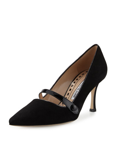 Mladar Suede Mary Jane Pump