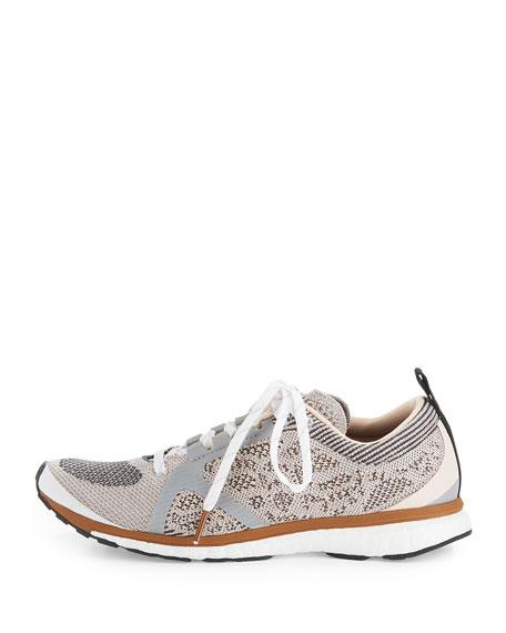 Adizero Adios Knit Sneaker, Silver/Gray/Brown