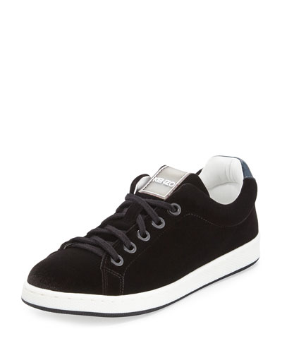 Velvet Low-Top Sneaker