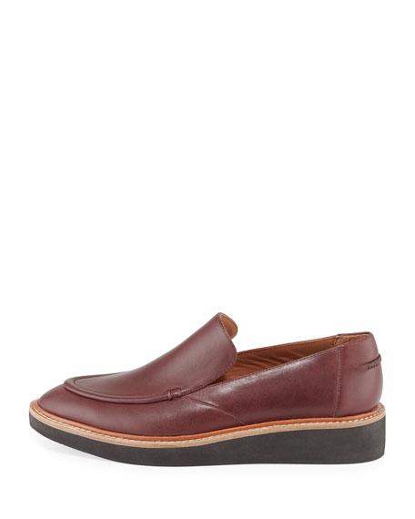 Dana Leather Platform Slip-On, Oxblood