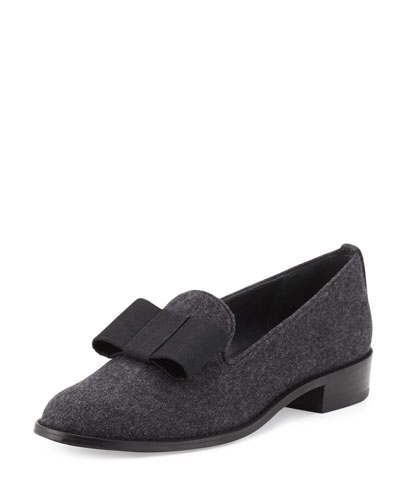 Atabow Flannel Bow Loafer, Gray