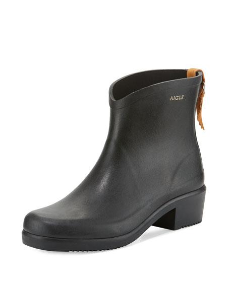 Miss Juliette Rubber Ankle Boot, Black (Noir)