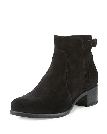 Alberto Fermani Viola Suede Ankle Boot, Black