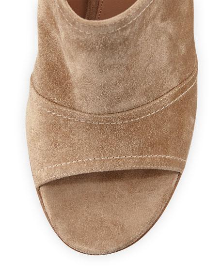 Suede Slingback Mule Sandal