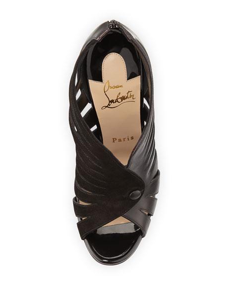 Toot Mignonne Red Sole Sandal, Black