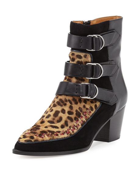 8d29ea2812f4 Isabel Marant Dickey Leopard-Print Fur & Leather Boot
