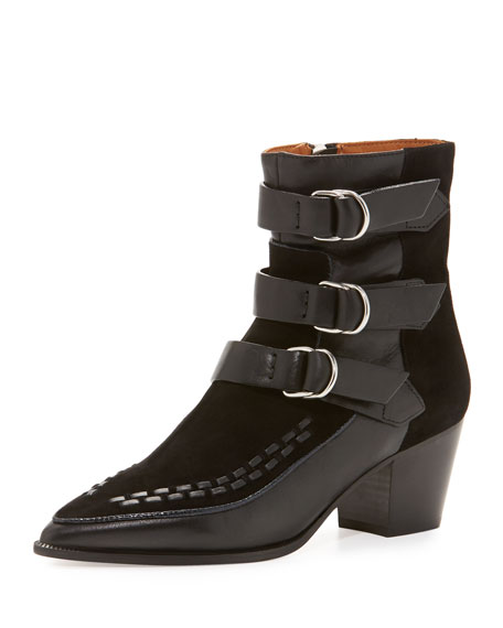 Isabel Marant Dickey Suede & Leather Boot, Black