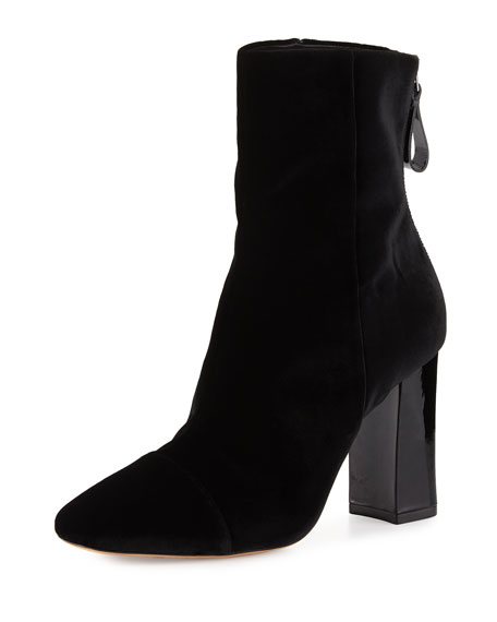 Velvet 90mm Block-Heel Bootie, Black