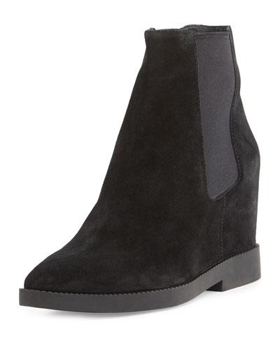 Gong Hidden-Wedge Chelsea Boot, Black