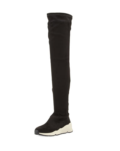 Miracle Over-the-Knee Sneaker Boot, Black