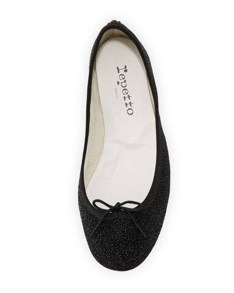 Cendrillon Crystal Ballerina Flat, Black Diamond