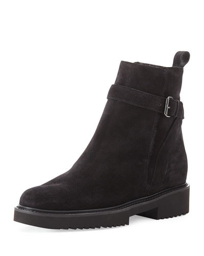Claudia Shearling-Lined Boot, Black