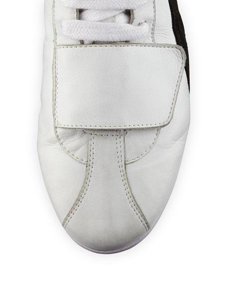 Eskiva Leather Over-the-Knee Sneaker Boot, White