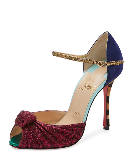 Christian Louboutin Marchavekel Mixed-Media d'Orsay Red Sole