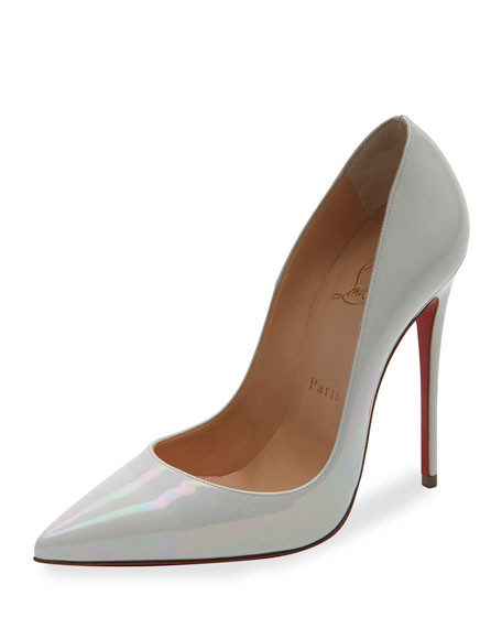 new product 70917 98b80 So Kate Patent 120mm Red Sole Pump White