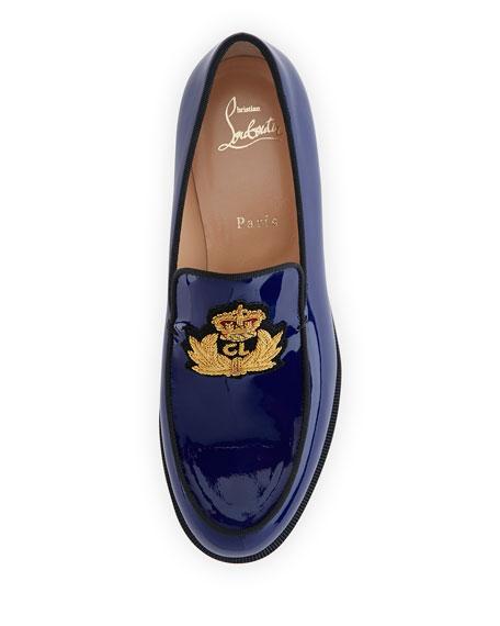72dd99f0301f Christian Louboutin Laperouza Patent Crest Loafer