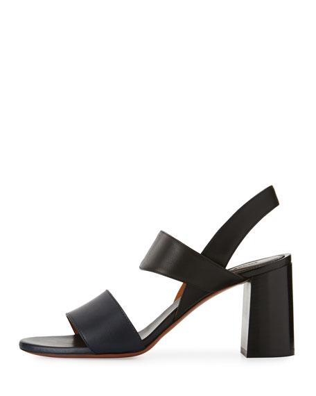 Mia Colorblock Leather 70mm Sandal