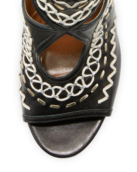 Sexy Thing Folk 105mm Sandal, Ink