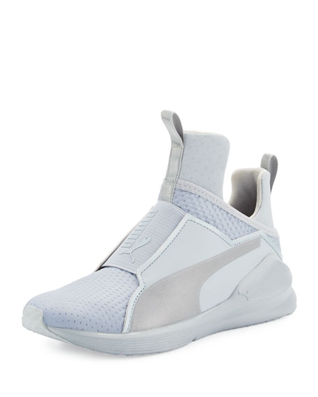 Puma Fierce Quilted High-Top Sneaker, Silver