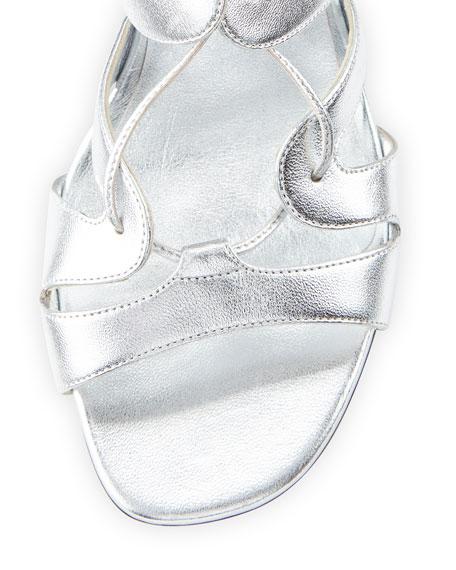 Babies Lace-Up Block-Heel Sandal, Platine