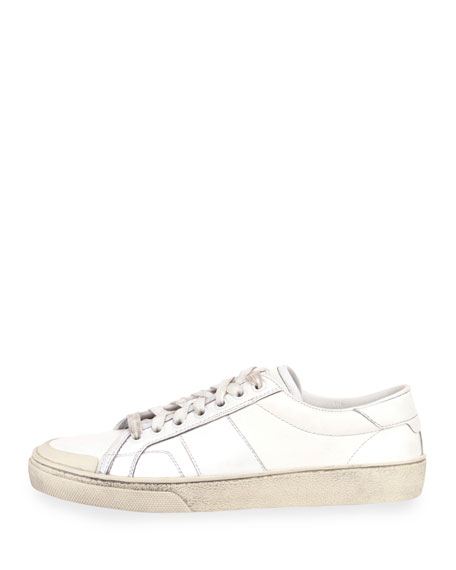 Court Classic Leather Low-Top Sneaker, Off White